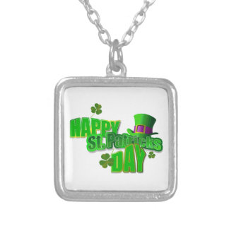 Happy St. Patricks Day Personalized Necklace