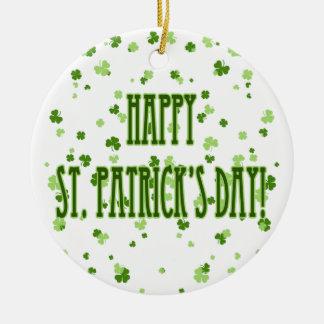 Happy St. Patrick's Day Ornament