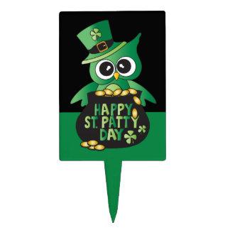 Happy St. Patrick's Day Owl Cake Topper