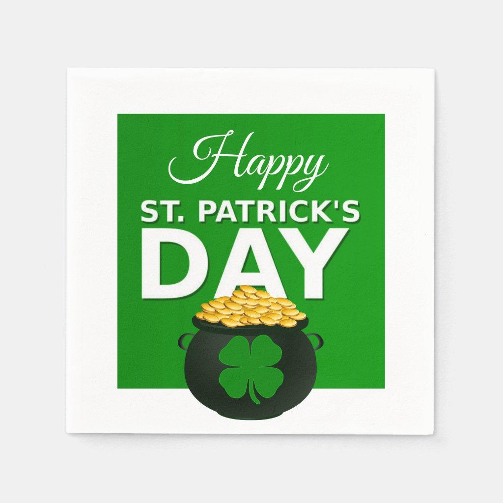 Happy St Patrick's Day Paper Napkin