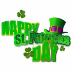 Happy St. Patrick's Day Pin Acrylic Cut Outs