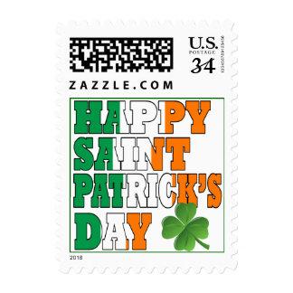 Happy St Patricks day Postage