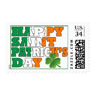 Happy St Patricks day Postage Stamp