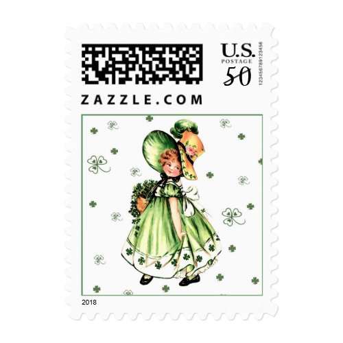 Happy St. Patrick's Day. Postage Stamps