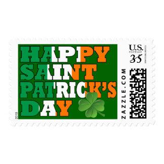 Happy St Patricks day Postage Stamps