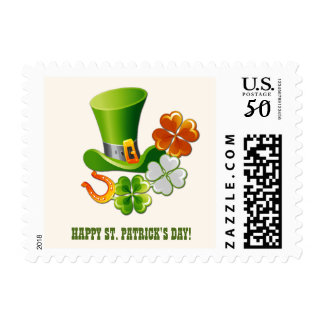 Happy St. Patrick's Day Postage Stamps