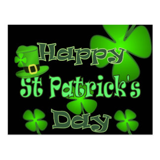 Happy St Patricks Day Postcard