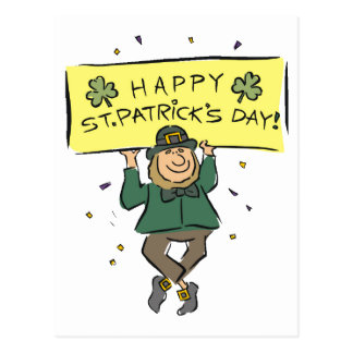 Happy St. Patrick's Day Postcard