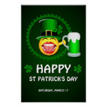 Happy St Patrick's Day Poster Print