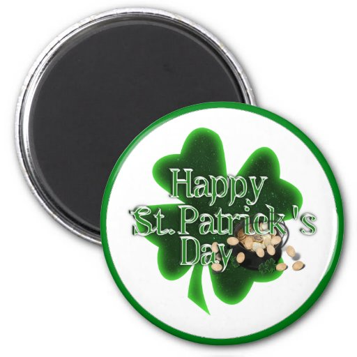 Happy St Patrick's Day - Pot Of Gold Magnets