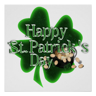 Happy St Patrick's Day - Pot Of Gold Poster