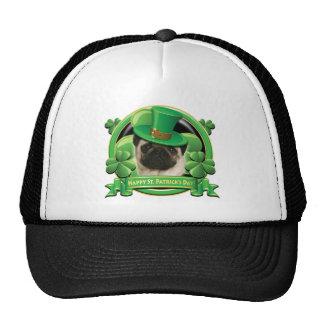 Happy St Patricks Day Pug Mesh Hats