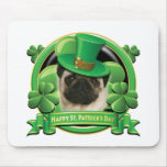 Happy St Patricks Day Pug Mousepads