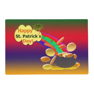 Happy St. Patrick's Day Rainbow Placemat