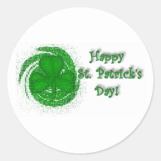 Happy St. Patrick's Day! Round Sticker