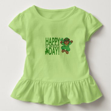 Toddler & Baby themed Happy St. Patrick's Day Ruffle Tee