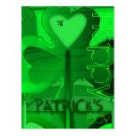 Happy St Patrick's Day Shamrock Heart - Postcard