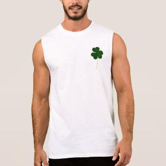 Happy St. Patrick's Day! Shamrock Irish Clover Sleeveless Shirt