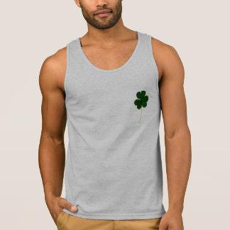 Happy St. Patrick's Day! Shamrock Irish Clover Tank Top
