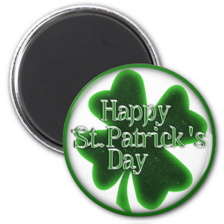 Happy St. Patricks Day Shamrock Magnet