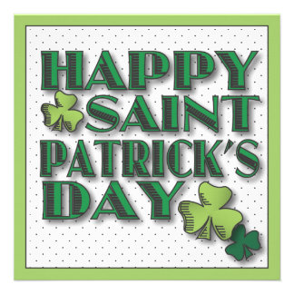Happy St. Patrick's Day Shamrock Party Invitation