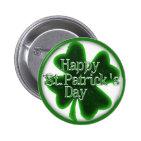 Happy St. Patricks Day Shamrock Pinback Button