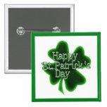 Happy St. Patricks Day Shamrock Pins