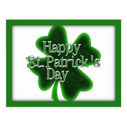 Happy St. Patricks Day Shamrock Post Cards