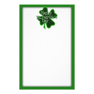 Happy St. Patricks Day Shamrock Stationery