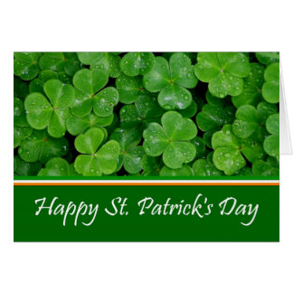 Happy St. Patrick's Day Shamrocks Card