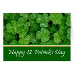 Happy St. Patrick's Day Shamrocks Greeting Card