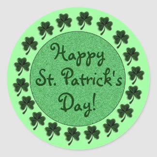 Happy St. Patrick's Day Shamrock's Stickers