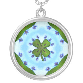 Happy St. Patrick's Day! Silver Plated Necklace
