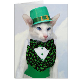 Happy St Patrick's Day - Skeezix the Cat Card