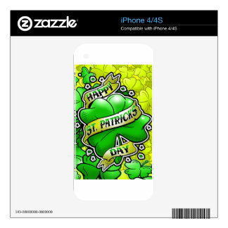 Happy St Patricks Day iPhone 4S Decal
