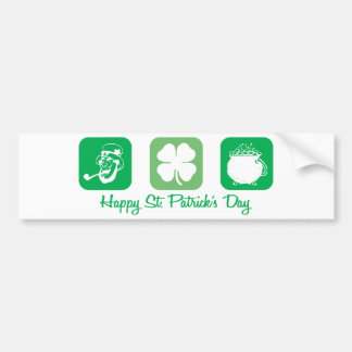 Happy St. Patrick's Day (Squares) Car Bumper Sticker
