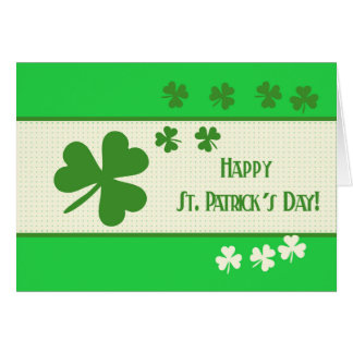 Happy St. Patrick's Day Stationery Note Card