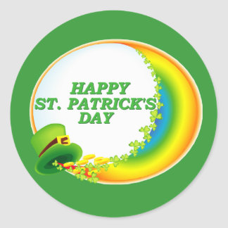 Happy St. Patrick's Day Round Stickers