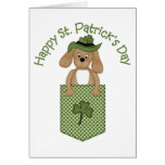 Happy St. Patrick's Day Sweet Puppy Gifts, Tees Cards