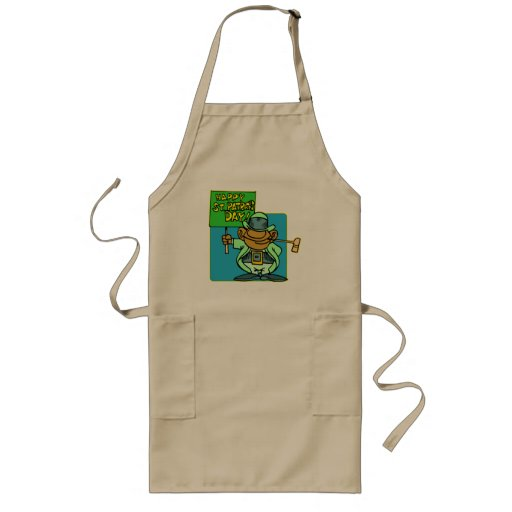 Happy St Patrick's Day T-shirts and Gifts Long Apron
