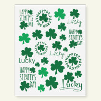 Happy St. Patrick's Day Temporary Tattoos