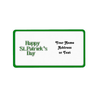 Happy St Patrick's Day Text Image Label
