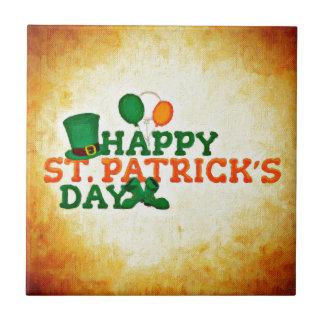 Happy ST Patrick's Day Tile