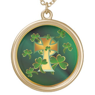 Happy St. Patrick's Day to you!-dark Gold Plated Necklace
