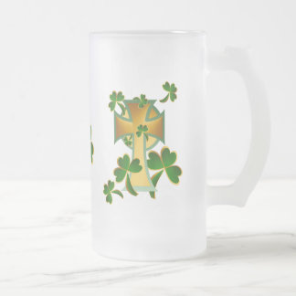 Happy St. Patrick's Day to you! Frosted Glass Beer Mug