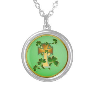 Happy St. Patrick's Day to you! Silver Plated Necklace