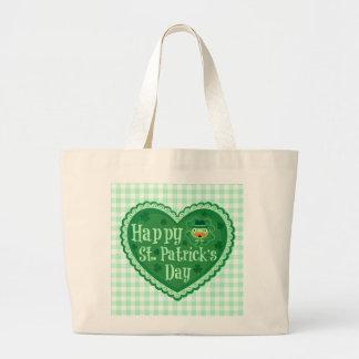 Happy St. Patrick's Day Tote Bag Jumbo Tote Bag