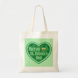 Happy St. Patrick's Day Tote Bag Budget Tote Bag