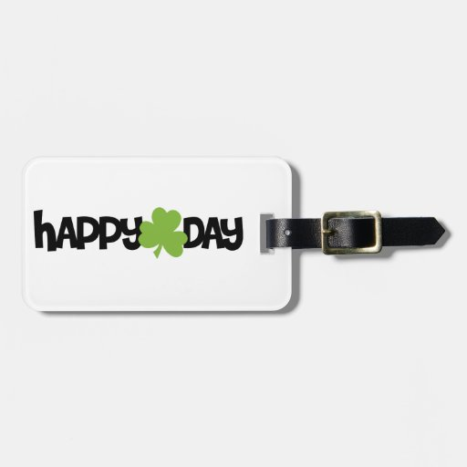 Happy St. Patrick's Day Travel Bag Tags