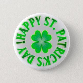 Happy St. Patrick's Day! Vintage Shamrock Button